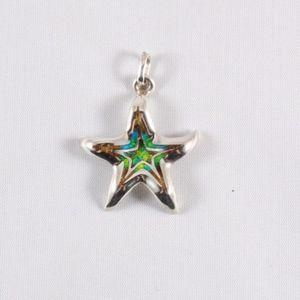 ITALY Sterling Enamel Star Fish Pendant